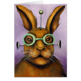 Rizmo The Rabbot Greeting Card
