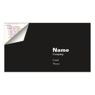 Rizo del HTML - indestructible Tarjetas De Visita