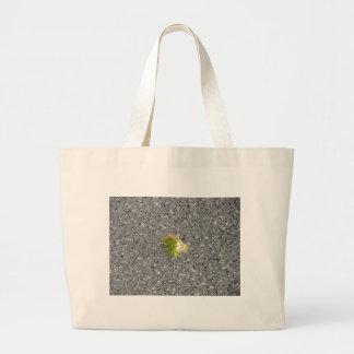 Rizo verde de la castaña bolsa tela grande