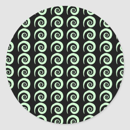 Rizos adaptables pegatina redonda