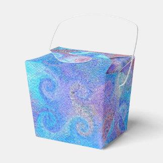 Rizos azules del mar caja para regalos