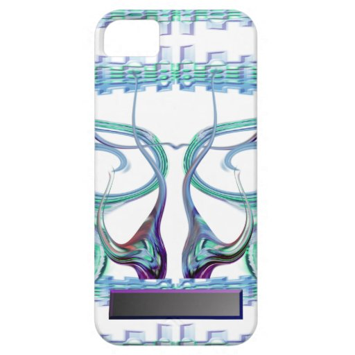 Rizos de la aguamarina iPhone 5 carcasas