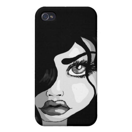 Rizos de la oscuridad iPhone 4 carcasa