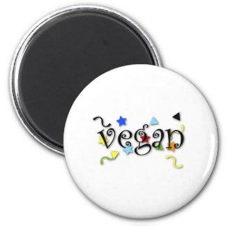 Rizos del vegano imán redondo 5 cm