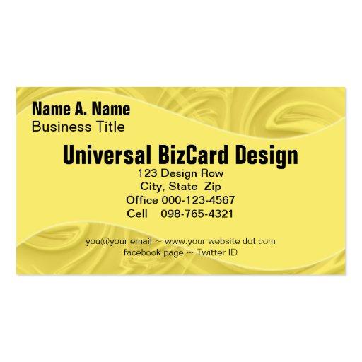 Rizos sobre amarillo tarjetas de visita