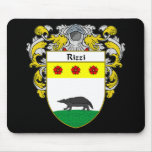 Rizzi Coat of Arms (Mantled) Mousepads