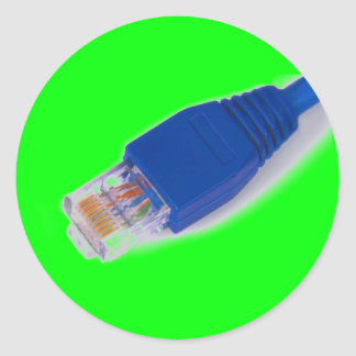 rj45 - computer network connector classic round sticker