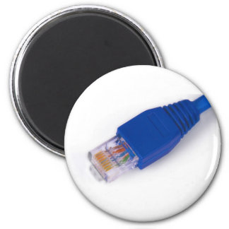 rj45 - computer network connector 2 inch round magnet