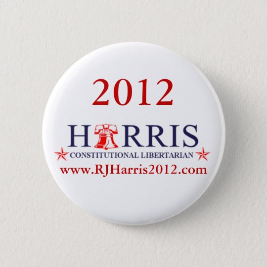 RJ Harris 2012 for President Button