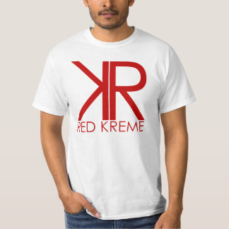 RK FONT STYLE | WHITE TEE | RED LOGO
