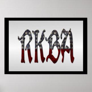 RKBA enderezan para guardar y para llevar los Póster