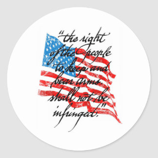 RKBA Shall Not Be Infringed Classic Round Sticker
