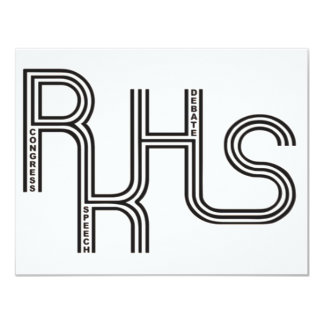 RKHS Debate/Congress/Speech (White) Product Personalized Announcement