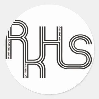 RKHS Debate/Congress/Speech (White) Product Round Sticker