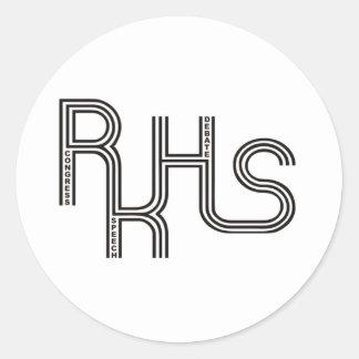RKHS Debate/Congress/Speech (White) Product Round Stickers