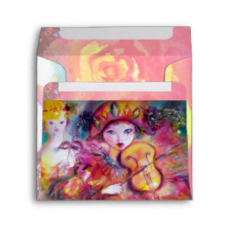 RLECCHINO AND COLOMBINA bright pink red yellow Envelopes