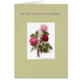 RLIT1081 [1], para mi madre en su cumpleaños Tarjeta De Felicitación