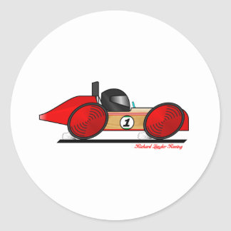 RLR1 CARtoon Classic Round Sticker