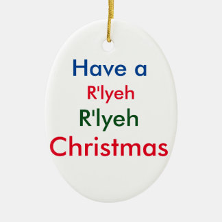 R'lyeh Lovecraft Christmas Ornament