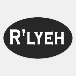 R'LYEH CALCOMANIA DE ÓVAL PERSONALIZADAS