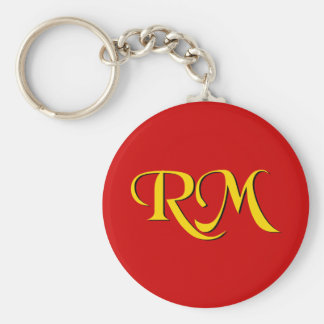 RM Return Missionary Basic Round Button Keychain