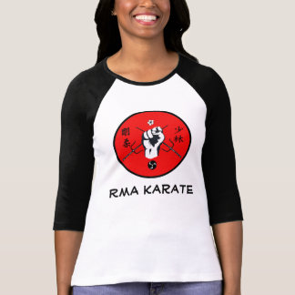 RMA Karate Women's Raglan White/Black T-Shirt