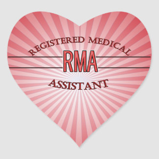 RMA LOGO REGISTERED MEDICAL ASSISTANT HEART STICKER