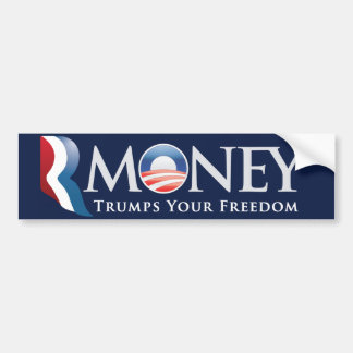 RMoney Romney Obama Bumper Sticker