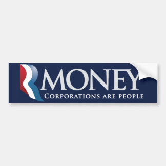 RMoney Romney Parody Bumper Sticker