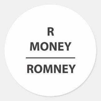 RMONEY - romney Pegatina Redonda