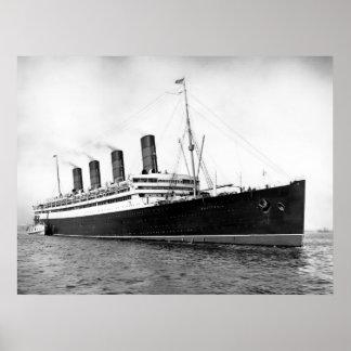 RMS Aquitania Poster