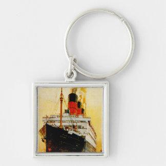 RMS Berengaria Llavero Cuadrado Plateado