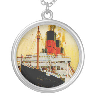 RMS Berengaria Round Pendant Necklace