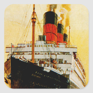 RMS Berengaria Square Sticker