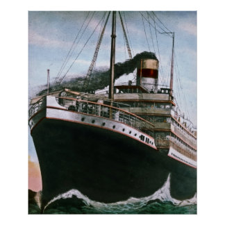 RMS Carpathia Comes to the Rescue of RMS Titanic Poster
