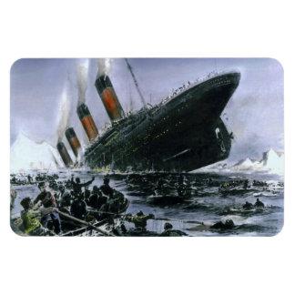RMS de hundimiento titánico Imanes De Vinilo