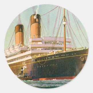 RMS Laurentic Classic Round Sticker