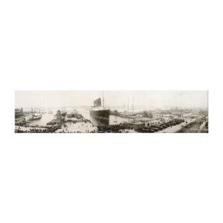 RMS Lusitania New York City 1907 Vintage Canvas Prints