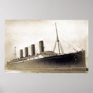RMS Lusitania Poster