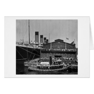 RMS Olympic at Pier 59 Vintage Glass Slide 1911 Card
