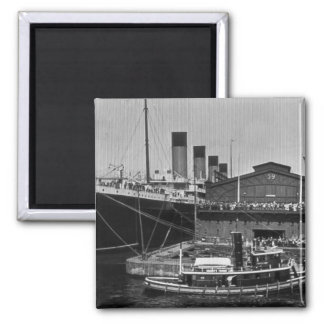 RMS Olympic at Pier 59 Vintage Glass Slide 1911 Magnet