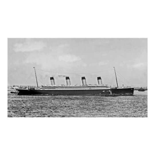 RMS Olympic:  Broadside View Poster