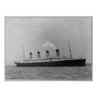 RMS OLYMPIC - Maiden Voyage Titanic Sister Ship Poster