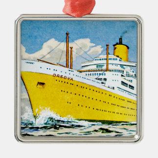 RMS Orsova at Sea Metal Ornament
