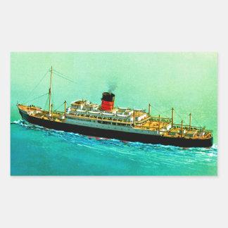 RMS Parthia Rectangular Sticker