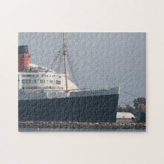 RMS Queen Mary Hotel and Museum in Long Beach Jigsaw Puzzle