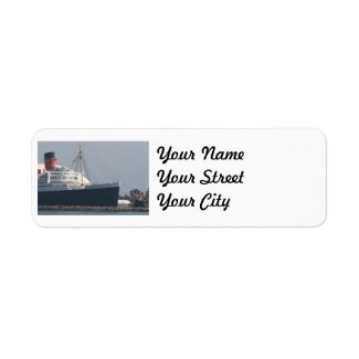 RMS Queen Mary Hotel and Museum in Long Beach Label