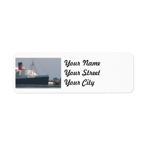 RMS Queen Mary Hotel and Museum in Long Beach Custom Return Address Label