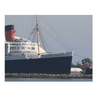 RMS Queen Mary Hotel and Museum in Long Beach Postcard