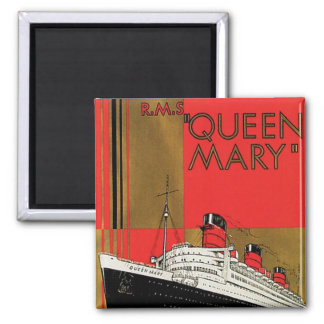 RMS Queen Mary 2 Inch Square Magnet